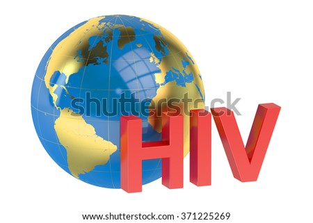 HIV concept isolated on white background