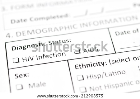 HIV Test form - stock photo