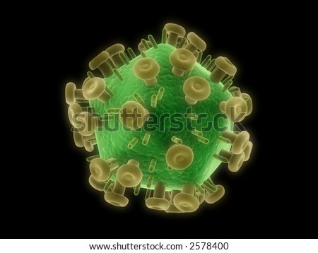 hiv virus - stock photo
