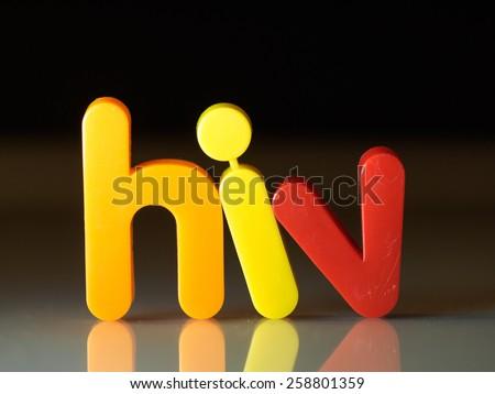 HIV virus concept - stock photo