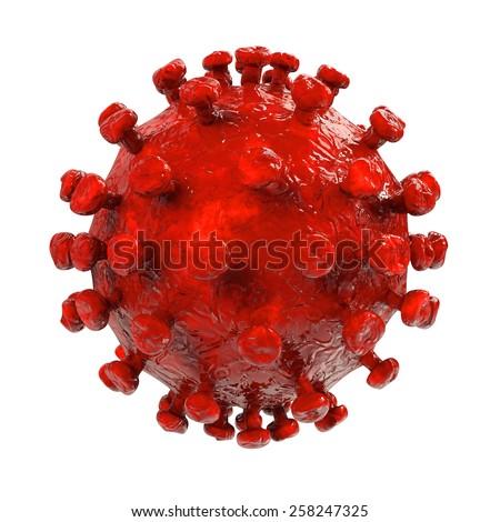HIV Virus - 3d rendered illustration - stock photo
