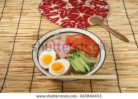 ... chopsticks asian japanese food frame japanese hiyashi chuka noodle