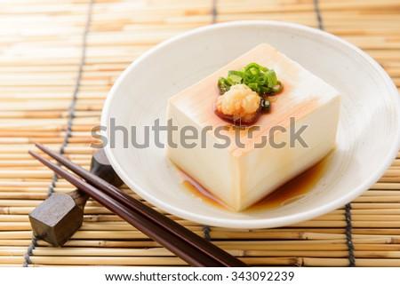hiyayakko japanese tofu - stock photo