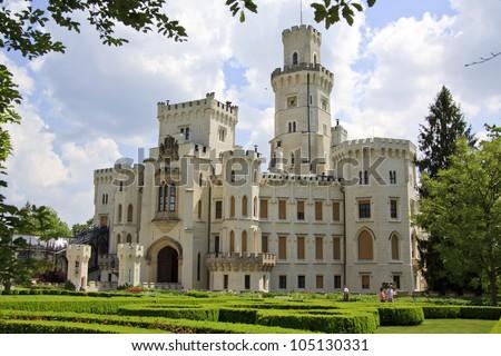 Hluboka nad Vltavou castle, Czech Republic - stock photo