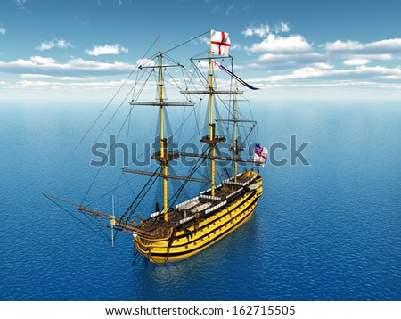 HMS Victory Computer generated 3D illustration