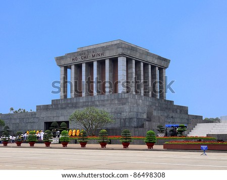 Ho Chi Minh Mausoleum - Hanoi, Vietnam - stock photo
