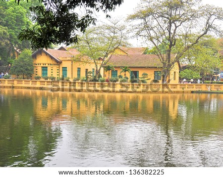 Ho Chi Minh's Residence in the 50's - Hanoi, Vietnam - stock photo