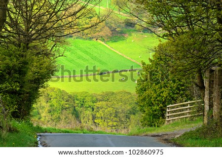 Hoar Stones Road in Bradfield Dale South Yorkshire England - stock photo