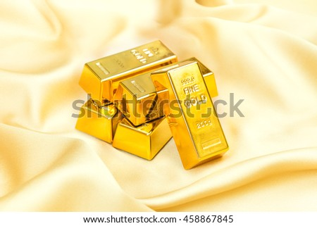 Hoard of gold - stock photo