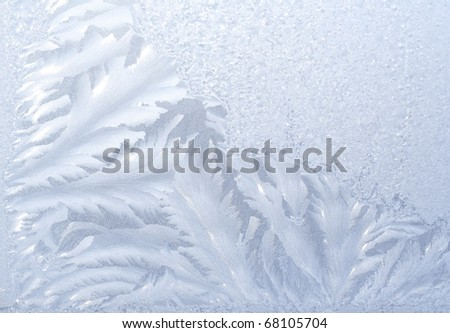 Hoarfrost on a window - stock photo
