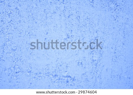 hoarfrost on the glass - stock photo