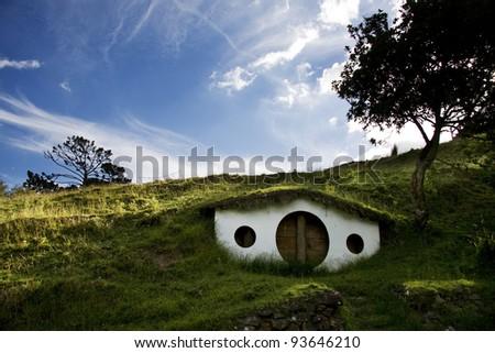 Hobbiton, Shire, New Zealand. - stock photo