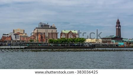 Hoboken skyline - stock photo