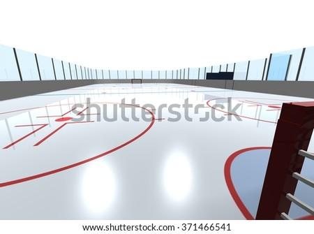 Hockey arena - stock photo