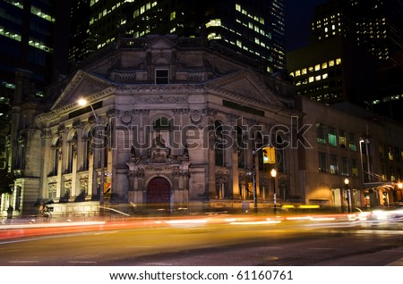 Hockey Hall of Fame, located in downtown Toronto, Ontario, Canada - stock photo