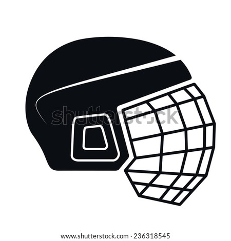 Hockey Helmet Icon Illustration - stock photo