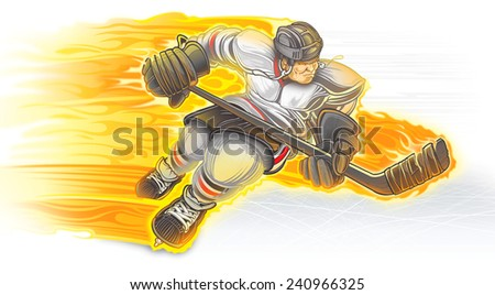 Hockey player - stock photo