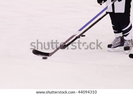 hockey players - stock photo