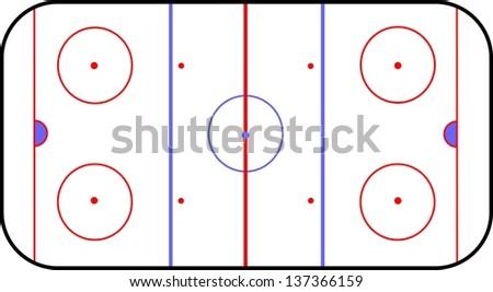 hockey playground - stock photo