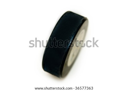 Hockey puck - stock photo