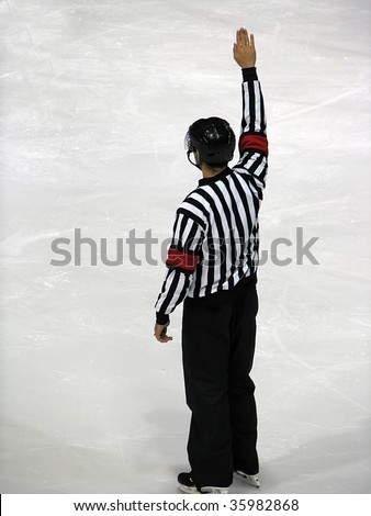 hockey referee - stock photo