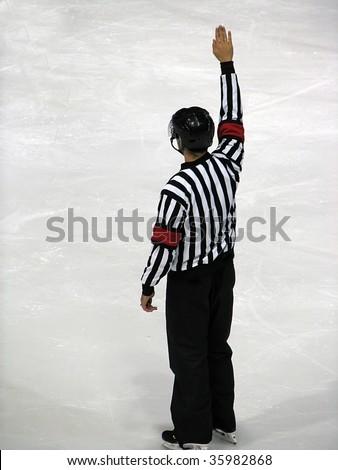 hockey referee - stock photo
