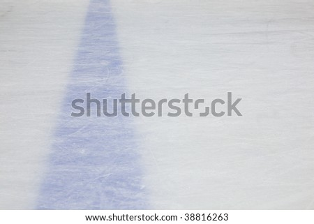 Hockey Rink Blue Line