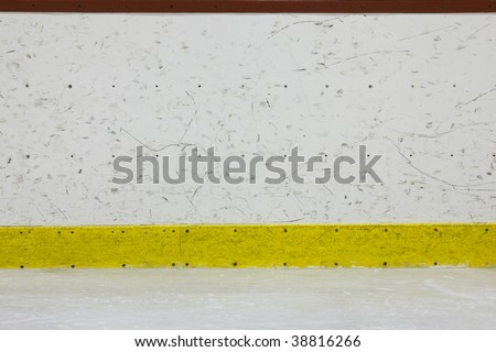 Hockey Rink Boards - stock photo