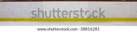 Hockey Rink Boards Panoramic - stock photo