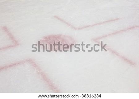 Hockey Rink Face Off - stock photo