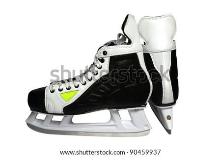 hockey skates - stock photo