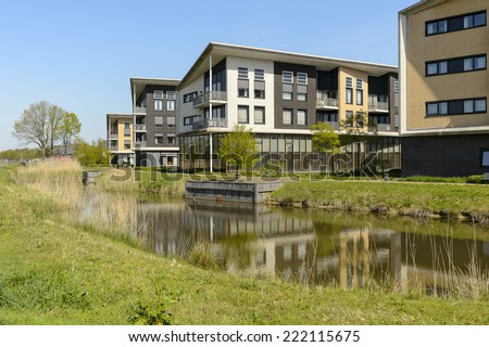 Hoeven, The Netherlands - April 4, 2014: Care home Kroonstede. Care home Kroonstede is a nursing home for older people.  - stock photo