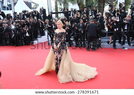 Hofit Golan attends the opening ceremony and 'La Tete Haute' premiere during the 68th annual Cannes Film Festival on May 13, 2015 in Cannes, France. - stock photo