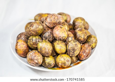 Hog Plum ( Spondias pinnata Kurz - stock photo