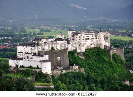 Hohensalzburg fortress, Salzburg, Austria - stock photo