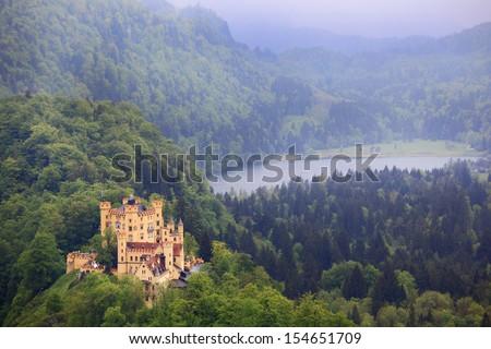 Hohenschwangau Castle in Bavaria,German - stock photo