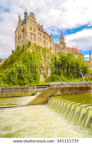 Hohenzollern Castle On The Danube  in Sigmaringen Germany