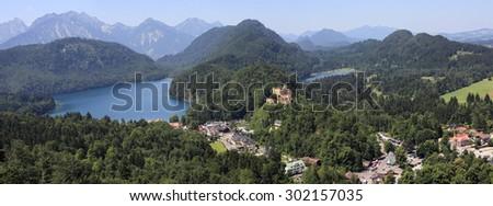 Hoheschwangau Castle in Bayern region - stock photo