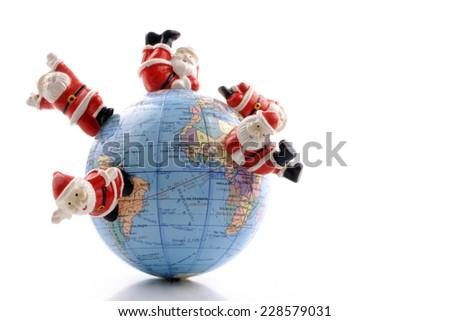 Hohoho world for celebrating Christmas around the world - stock photo