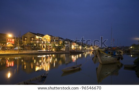 Hoi An at night - stock photo