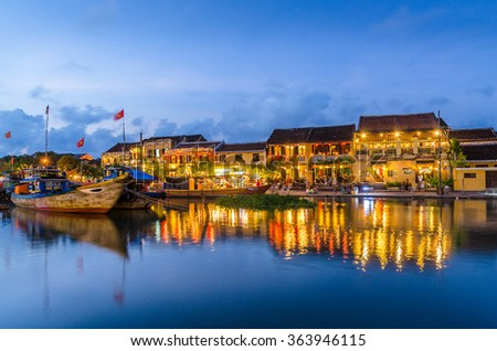Hoi An during sunset