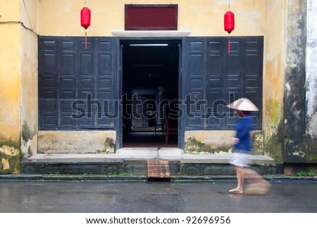 Hoi An street scene  - stock photo
