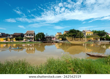 HOI AN, VIETNAM - OCTOBER 27, 2014. Hoi An Ancient Town is a UNESCO, World Heritage Site, and an exceptionally well-preserved example of a South-East Asian trading port. - stock photo