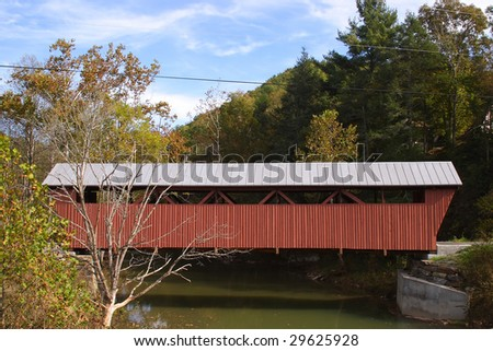 Hokes Mill Covered Bridge - stock photo