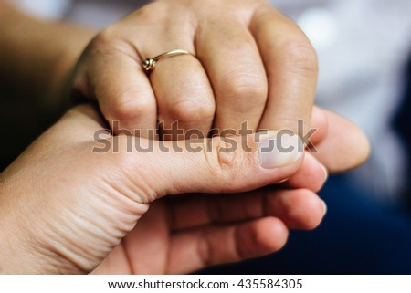 Hold my hand  - stock photo