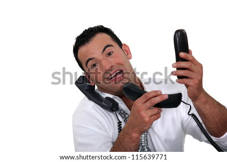 Hold on a sec - stock photo