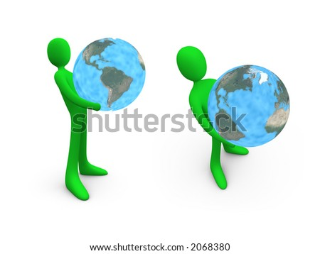 Hold The World #1. - stock photo