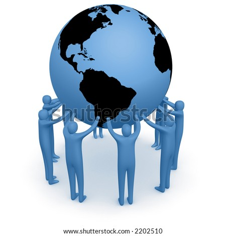 Hold The World #4 - stock photo