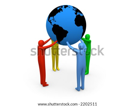 Hold The World #3 - stock photo