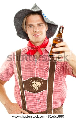 holding a beer - stock photo